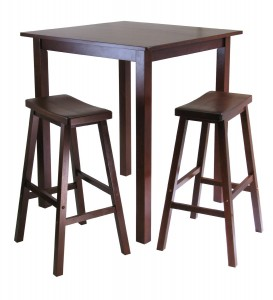 Wood Square High Top Table Set