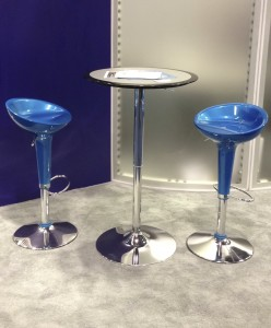 Round High Top Table and Stools