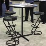 High Top Table and Padded Stools