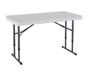 4-foot counter height folding table