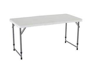 4-foot folding adjustable height folding table