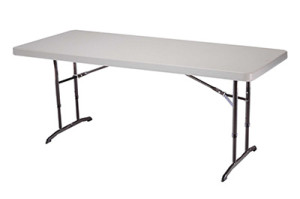 6-foot counter height folding table