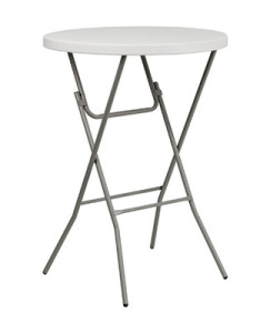 Superbe 32 Inch Round Folding Bar Height Table