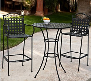 Capri 3-Piece Outdoor Bar Height Bistro Set