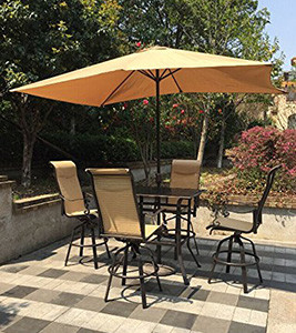 Discover The Best Outdoor Bar Height Table And Chairs Sets