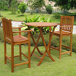 Royal Tahiti Terrassa Bar Height Bistro Set