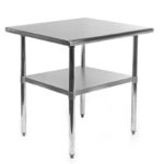 Gridmann counter height stainless steel kitchen table 1