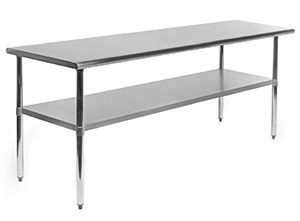 Gridmann counter height stainless steel kitchen table 3
