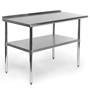 "48"" Gridmann counter height stainless steel kitchen table"