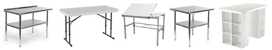 counter height work tables
