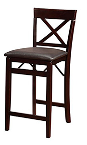 Linon Home Triena Cross Back Folding Counter Stool