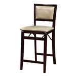 Upholstered Folding Counter Height Chair