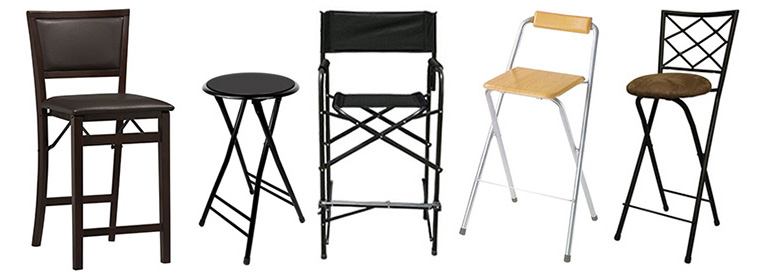 Assorted Counter Height Folrding Chairs And Stools