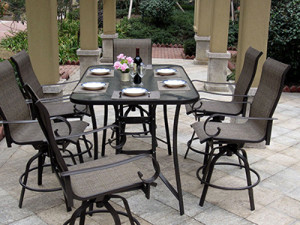 7 Piece Outdoor Patio Dining Set With Cover